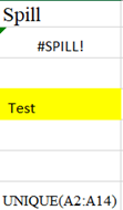 Spill error